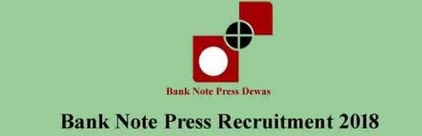 BANK NOTE PRESS are recruiting freshers for the post of Multiple Positions,job location Madhya Pradesh,Last Date  9 November 2018