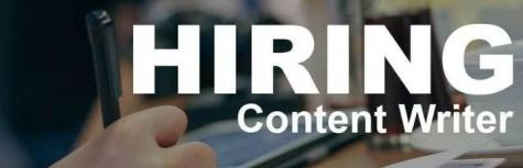 Thick Accent Football company are hiring freshers for the post of Content Writer Job,job location Across India,Last Date 02 Oct 2018