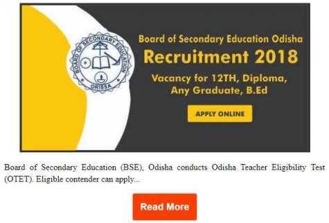 Board of secondary education of Odisha recruitment 2018 19