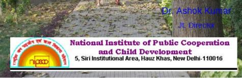 National Institute of Public Cooperation and Child Development  are hiring for Office Executive Jobs for  Bangalore  branch.